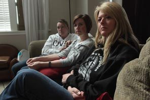(From right) Ronda LeFrancois, Kim Renninger and Kelly Richards - family members of the slain Lakewood police officers - talk about their claims they planned to file against Pierce County Friday afternoon, April 9, 2010 inside of the Renninger home.