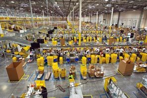 Amazon has four fulfillment centers in the Phoenix metro area, with a combined total of more than 4 million square feet. As part of a strategy to reduce customers' waiting time after making a purchase, Amazon has set up dozens of distribution warehouses around the world. The workers at this center shipped a record 2,086,548 items in one week.
