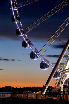 Seattle's Great Wheel ride is a popular new waterfront attraction.