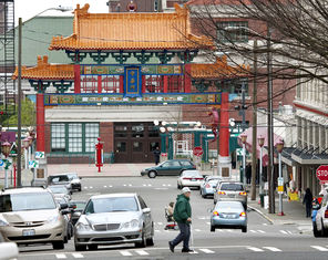 This gate on South King Street at Fifth Avenue is an icon of the multicultural Chinatown International District.