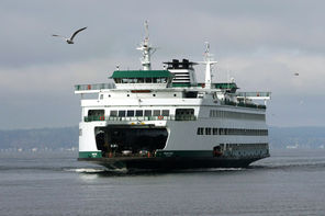 The distinctive white and green vessels of the Washington State Ferries system are a relatively inexpensive way to get a scenic boat ride on Puget Sound, especially if you go as a walk-on passenger.