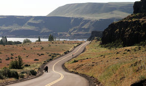 Upon entering Columbia Hills State Park there's a sweeping view down to the Columbia River. The park offers scenic grandeur and a treasure of cultural artifacts.