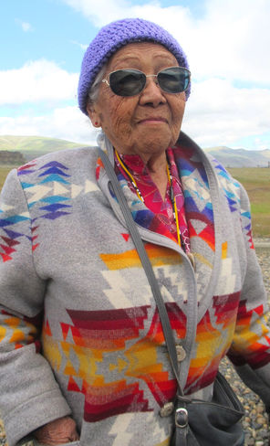 90-year-old Viola Kalama, a tribal member from   Warm Springs, Ore., grew up  in what's now the park.
