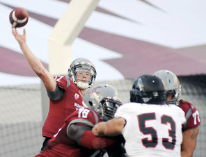 Cougars  quarterback Connor Halliday passed for 383 yards and five touchdowns against Southern Utah, completing touchdown passes to four different receivers.