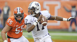 Keith Price (17) was again brilliant in leading the Husky offense, which finished with 615 yards.