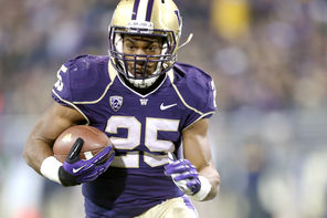 Bishop Sankey had a big night for the Huskies,rushing for 241 yards on 27 carries with touchdown runs of 3 and 59 yards.