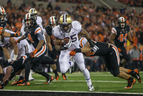 Bishop Sankey finished with 179 yards on 23 carries as UW rushed for   530 yards.
