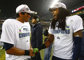 Despite entirely  different personalities,  Russell Wilson and  Richard Sherman have led  their respective units to victory.