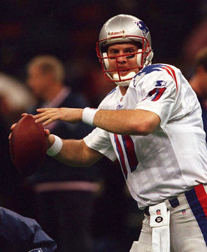 Drew Bledsoe led the Patriots against the Packers, but was later supplanted by Tom Brady.