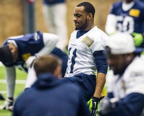 Percy Harvin was a full participant in   practice and appeared to have no effects from his concussion.