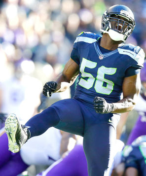 Defensive end Cliff Avril, brought in as a free agent to bolster the pass rush, had eight sacks for the Seahawks this season.