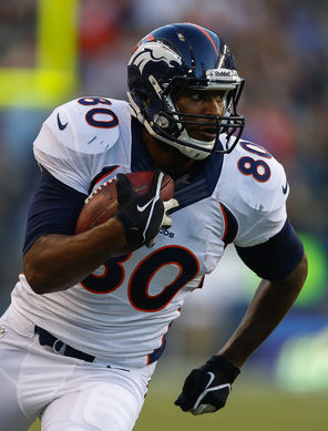 Broncos tight end Julius Thomas had a breakout season with 12 touchdown catches.