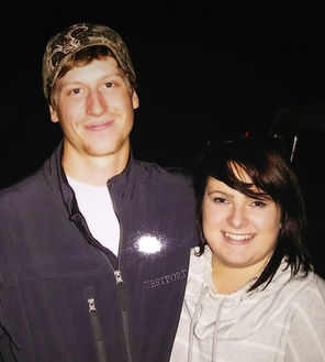 Alan Bejvl, left, and Delaney Webb were engaged.